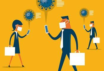 ۴ راهکار پیامکی برای حفظ سلامت کارمندان در مقابل بحران کرونا